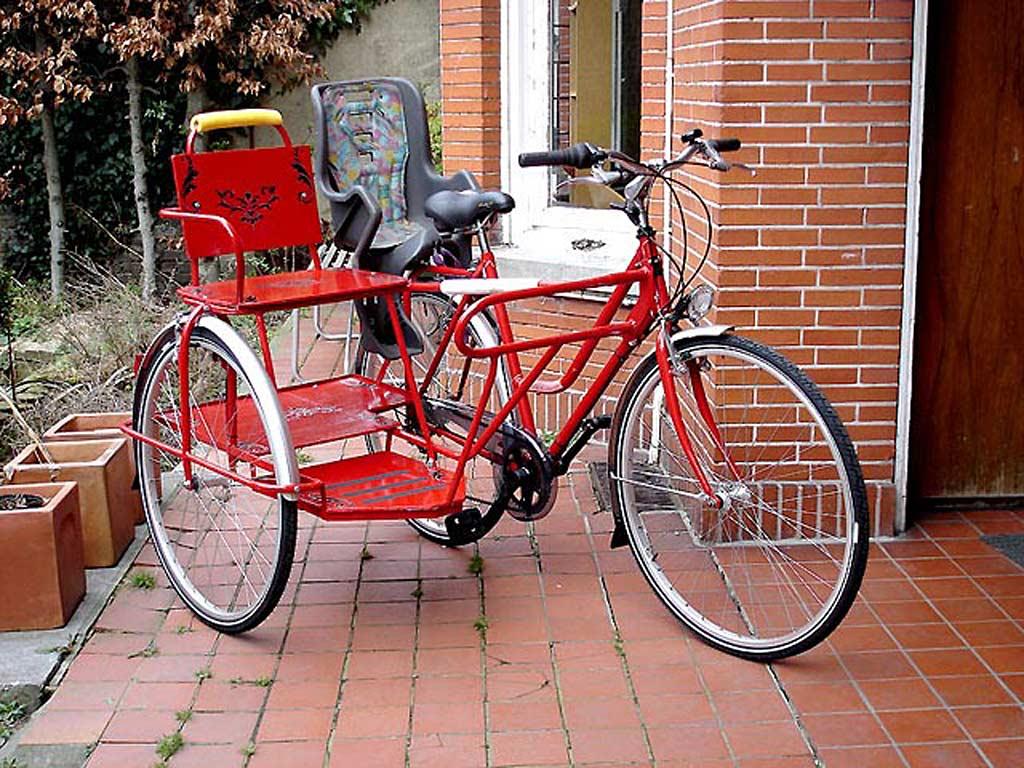 Как сделать на велосипед с коляской 244